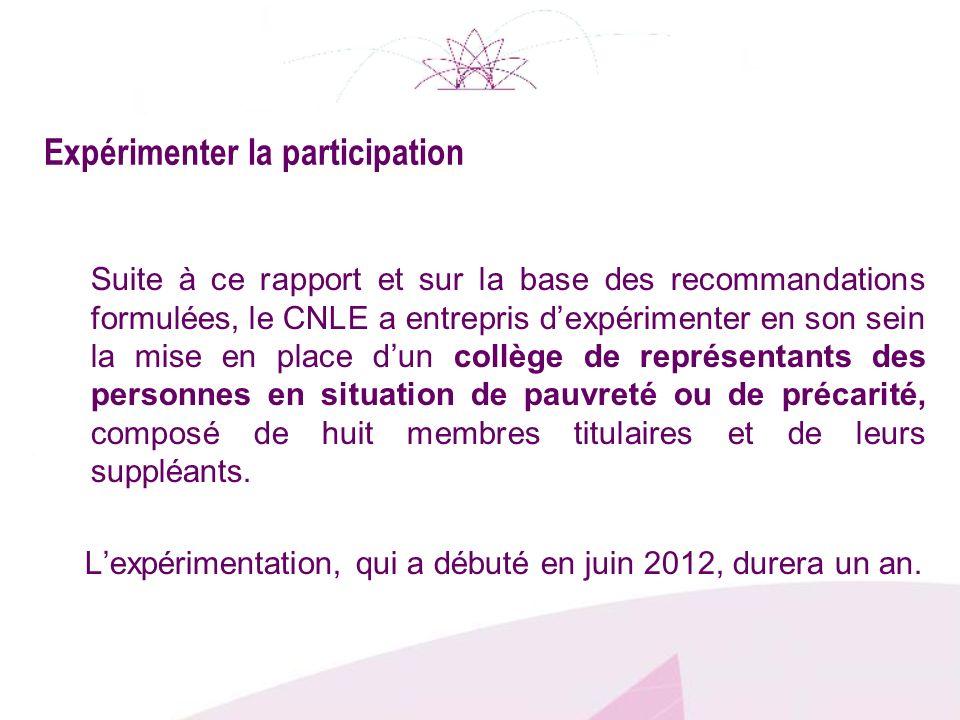 Expérimenter la participation