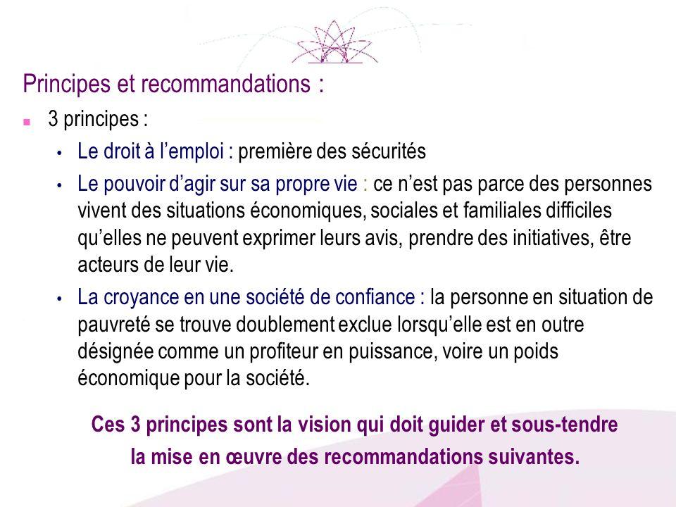 Principes et recommandations :