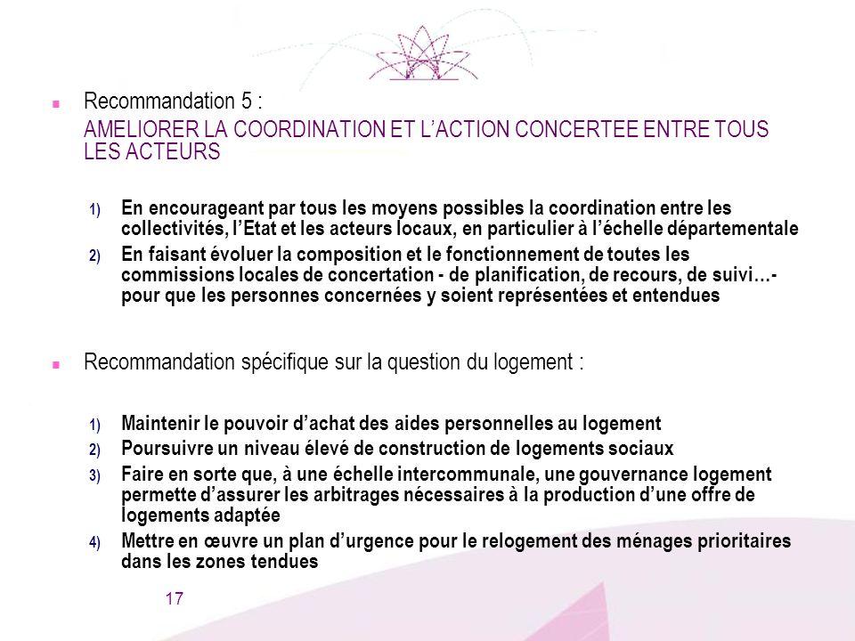 AMELIORER LA COORDINATION ET L'ACTION CONCERTEE ENTRE TOUS LES ACTEURS