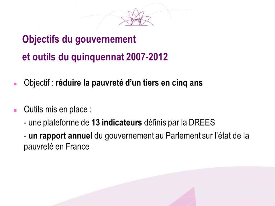 Objectifs du gouvernement et outils du quinquennat 2007-2012