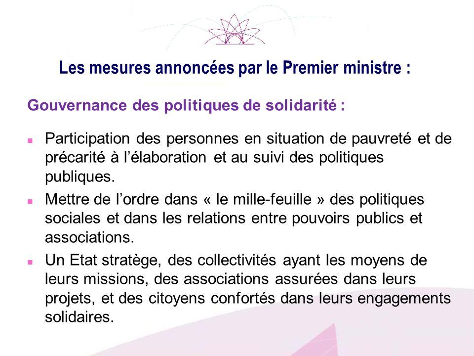 Les mesures annoncées par le Premier ministre :