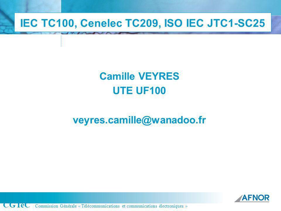 IEC TC100, Cenelec TC209, ISO IEC JTC1-SC25