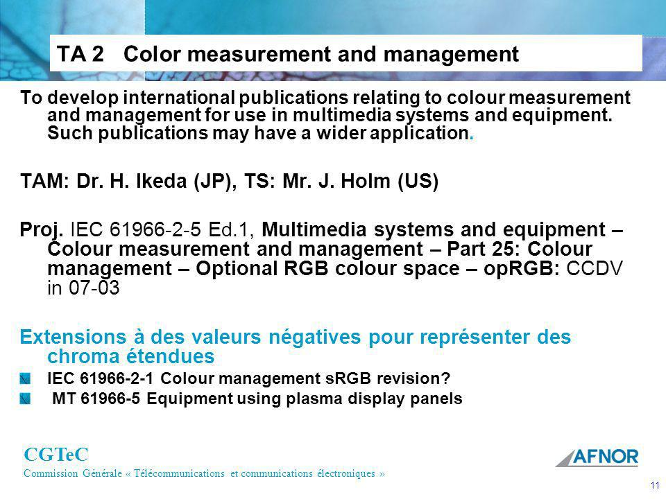 TA 2 Color measurement and management
