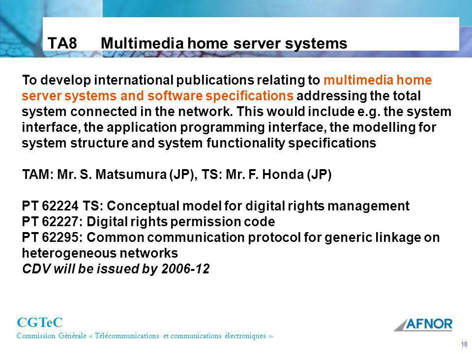 TA8 Multimedia home server systems