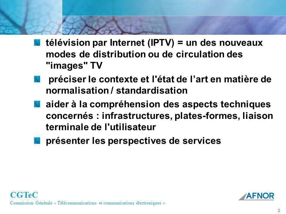 télévision par Internet (IPTV) = un des nouveaux modes de distribution ou de circulation des images TV