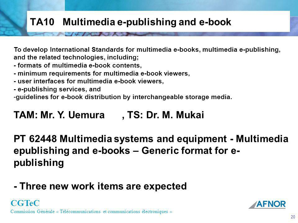 TA10 Multimedia e-publishing and e-book