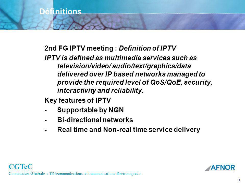 Définitions 2nd FG IPTV meeting : Definition of IPTV