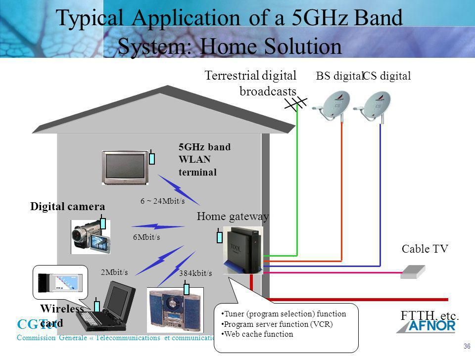 Typical Application of a 5GHz Band System: Home Solution