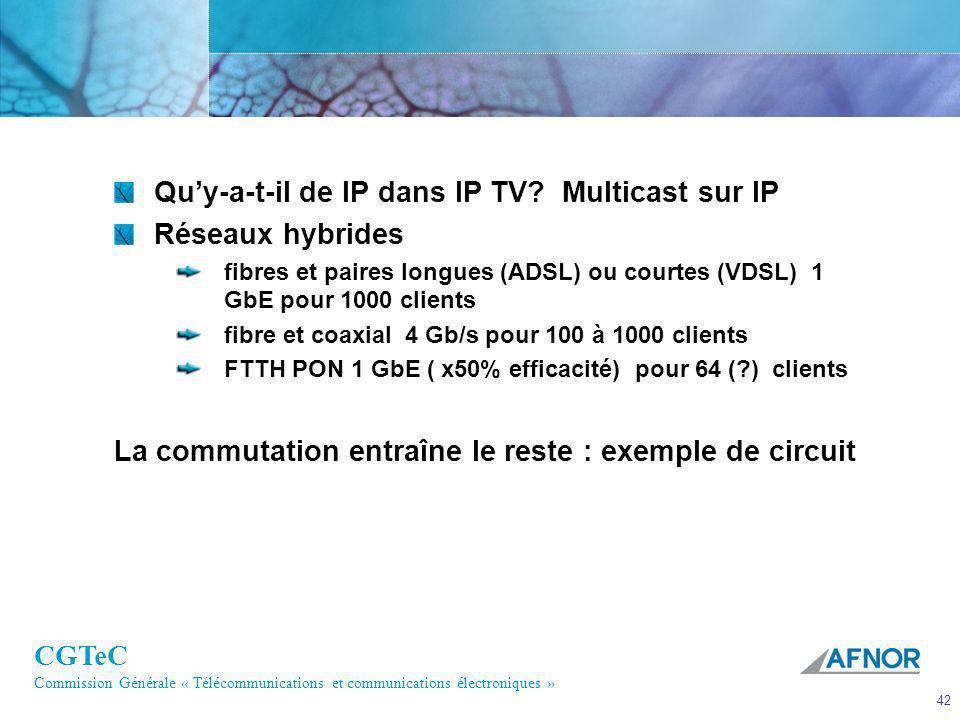 Qu'y-a-t-il de IP dans IP TV Multicast sur IP Réseaux hybrides
