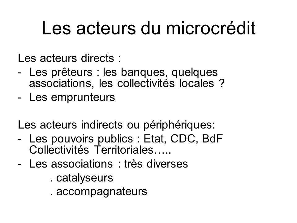 Les acteurs du microcrédit