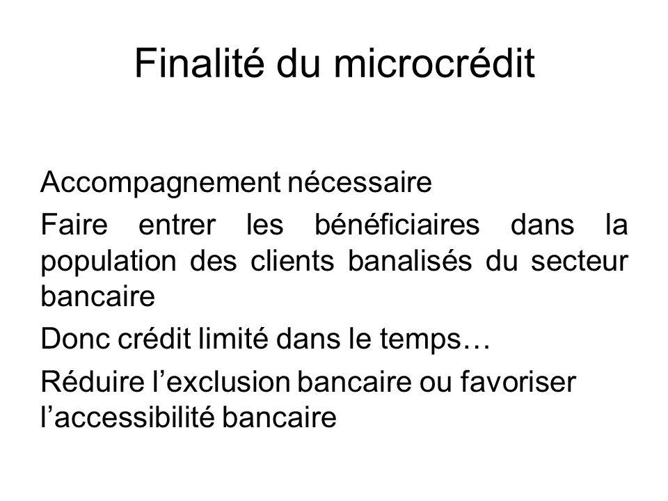 Finalité du microcrédit