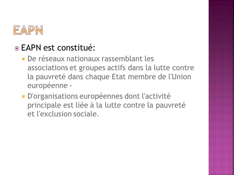 EAPN EAPN est constitué: