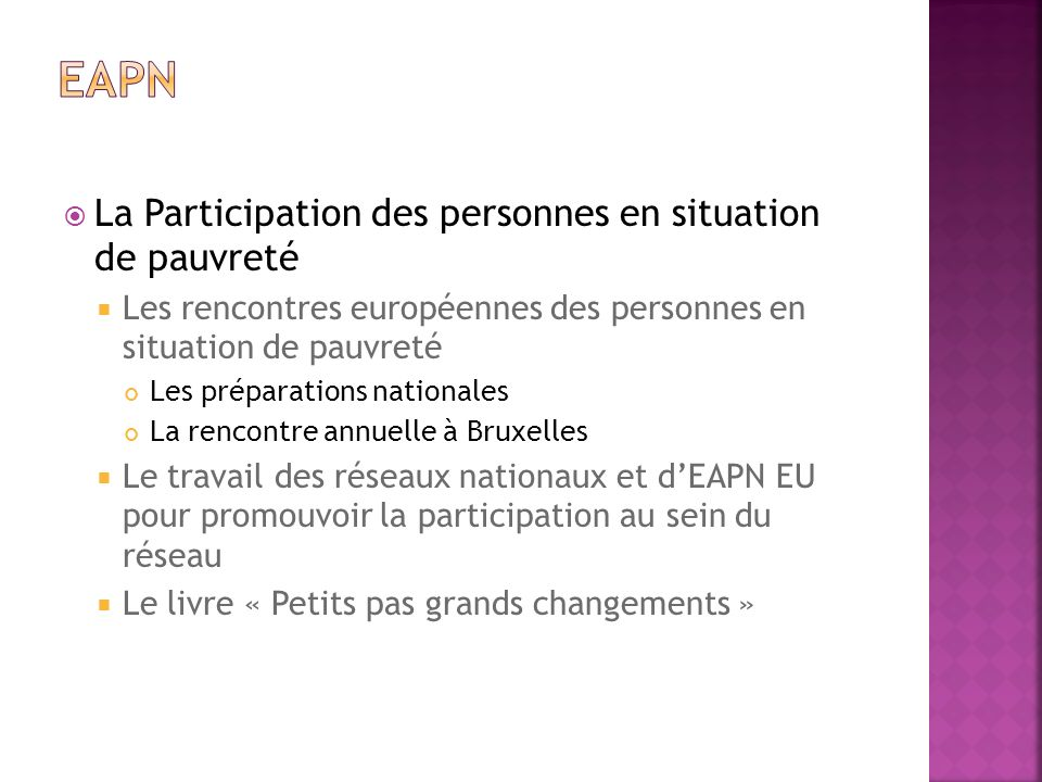 Eapn La Participation des personnes en situation de pauvreté