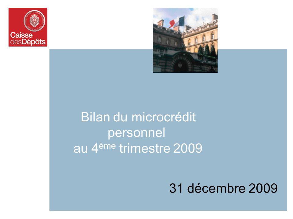 Bilan du microcrédit personnel au 4ème trimestre 2009