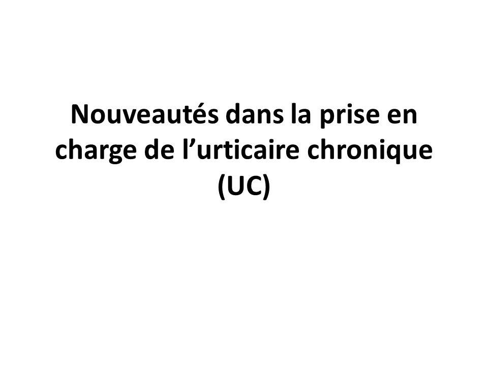 Nouveautés dans la prise en charge de l'urticaire chronique (UC)