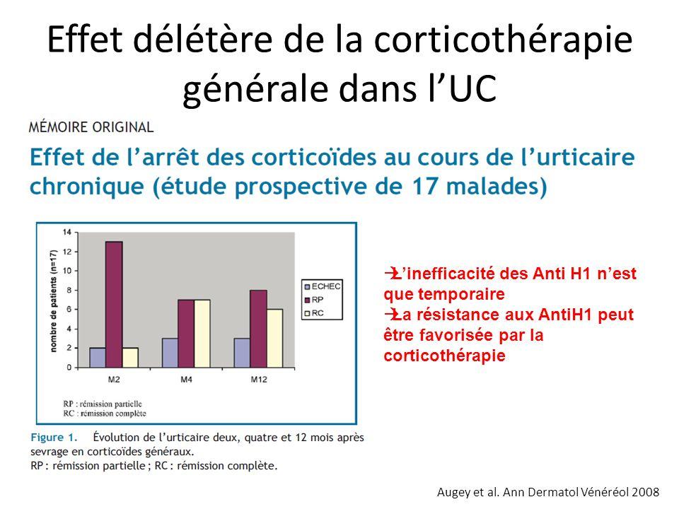 Effet délétère de la corticothérapie générale dans l'UC