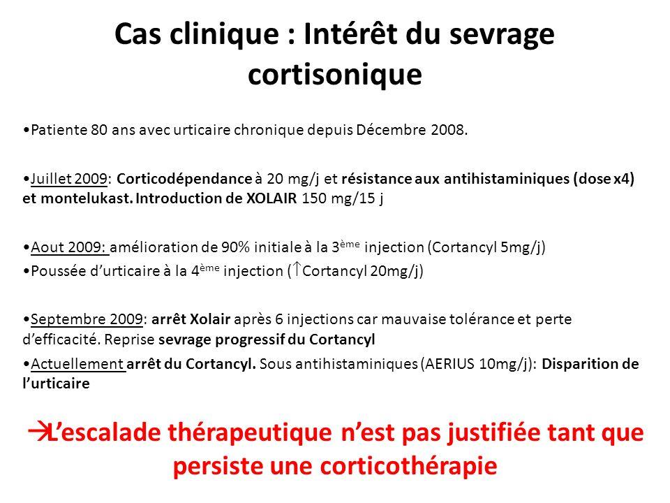 Cas clinique : Intérêt du sevrage cortisonique