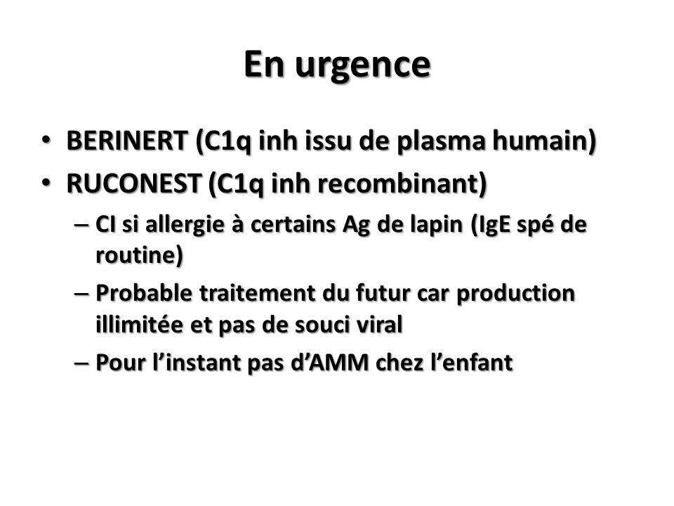 En urgence BERINERT (C1q inh issu de plasma humain)