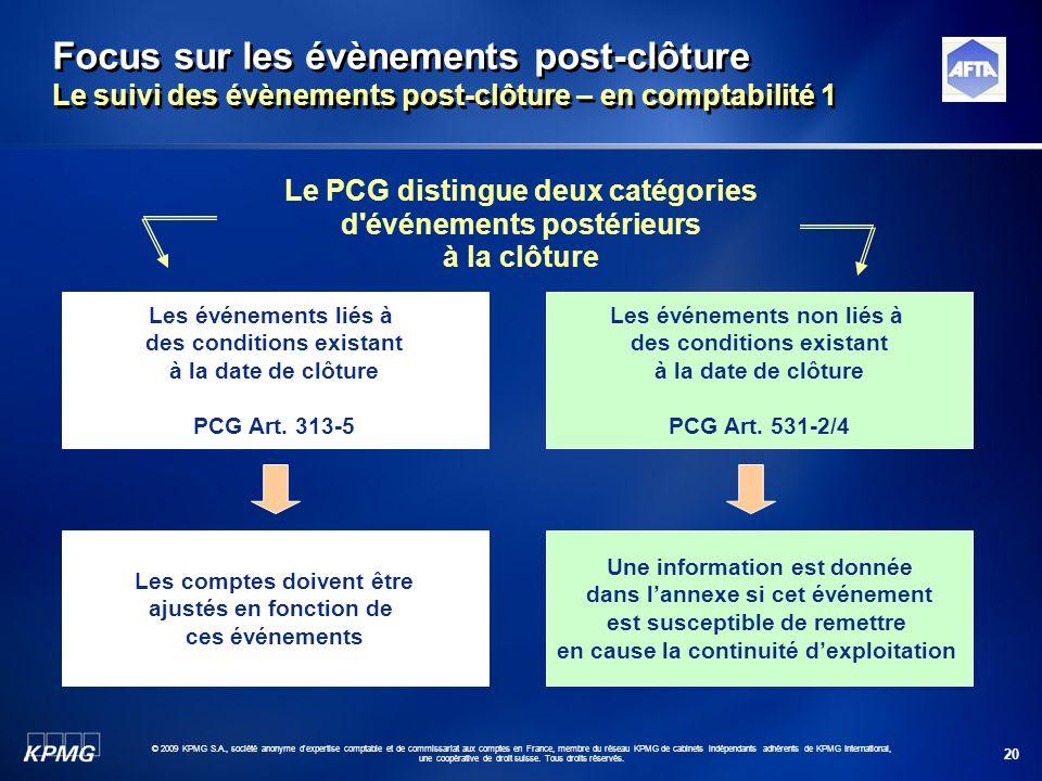 Focus sur les évènements post-clôture Le suivi des évènements post-clôture – en comptabilité 1