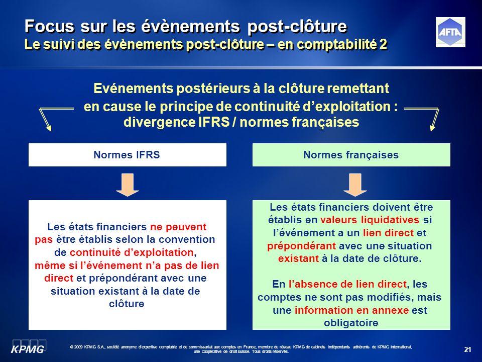 Focus sur les évènements post-clôture Le suivi des évènements post-clôture – en comptabilité 2