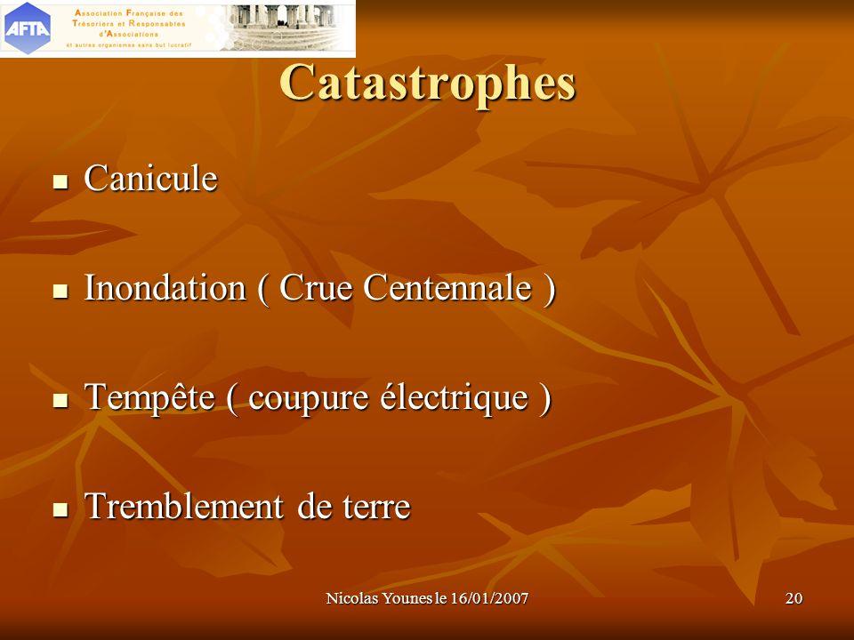 Catastrophes Canicule Inondation ( Crue Centennale )