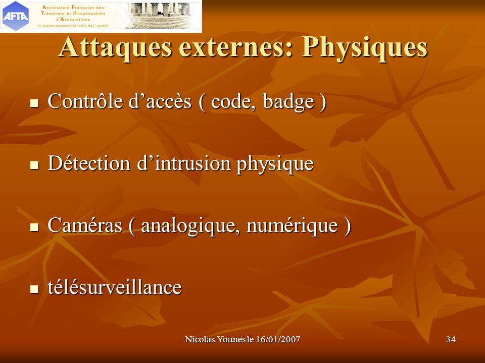 Attaques externes: Physiques