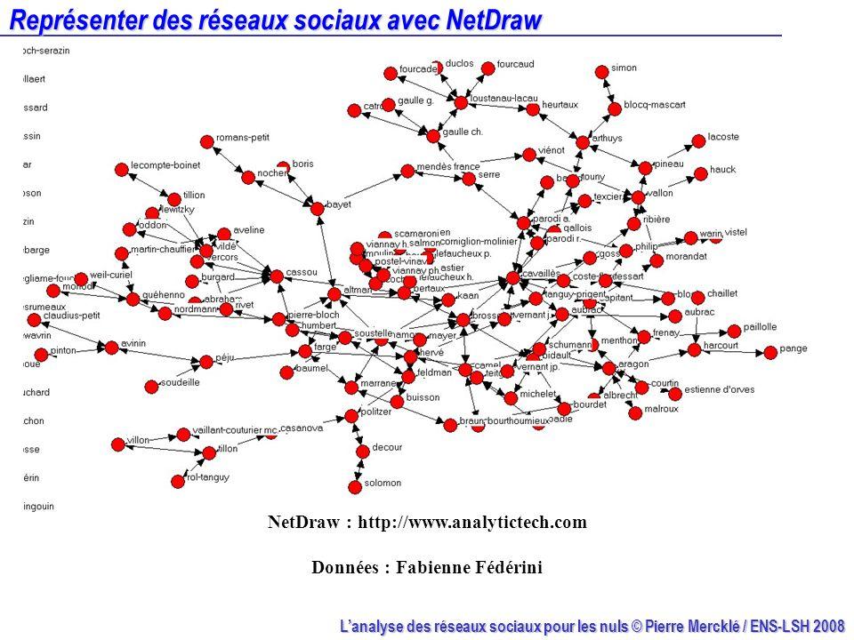 Représenter des réseaux sociaux avec NetDraw