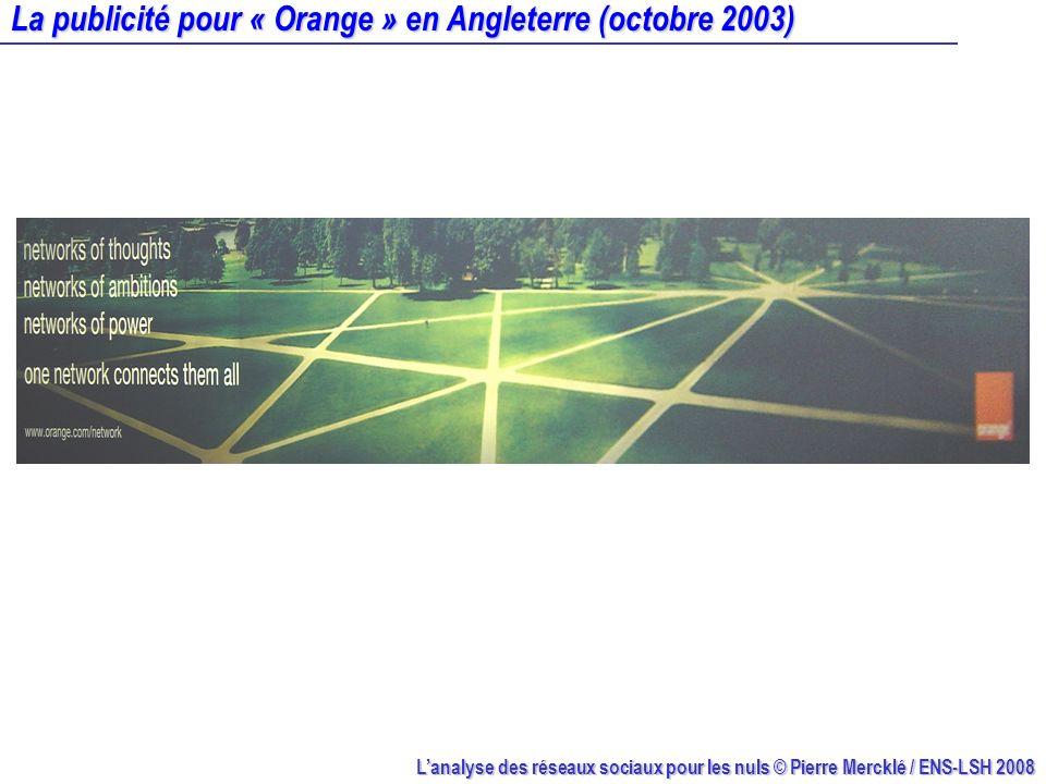 La publicité pour « Orange » en Angleterre (octobre 2003)