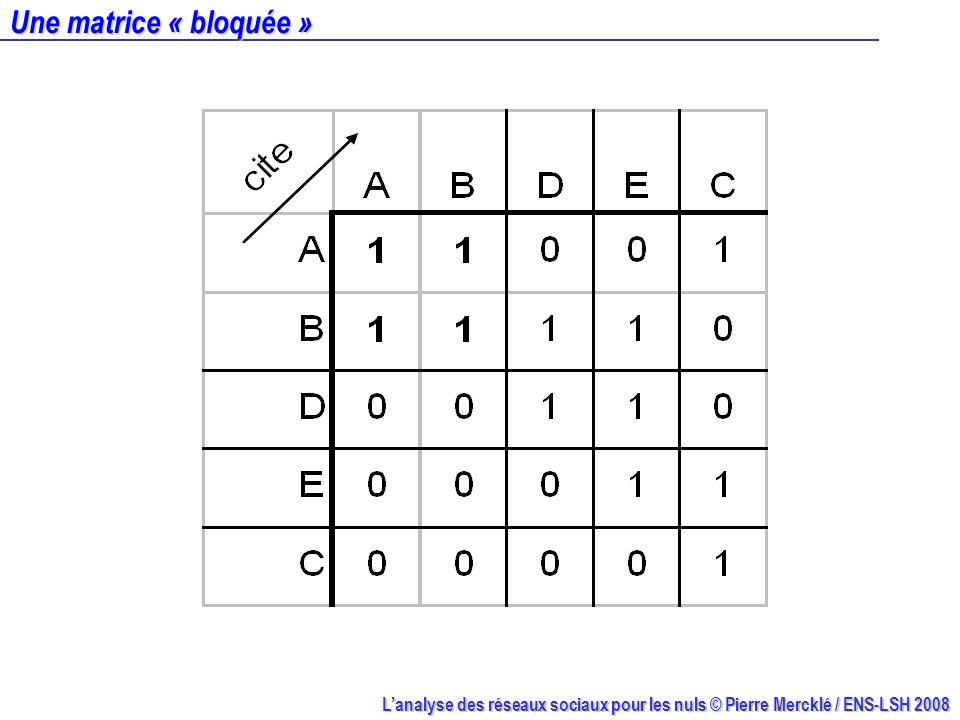 Une matrice « bloquée »