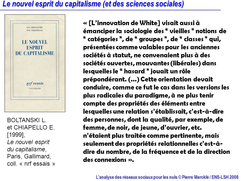 Le nouvel esprit du capitalisme (et des sciences sociales)