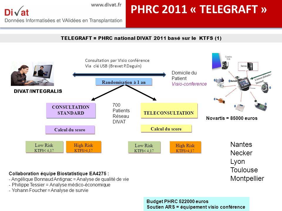 PHRC 2011 « TELEGRAFT » Nantes Necker Lyon Toulouse Montpellier