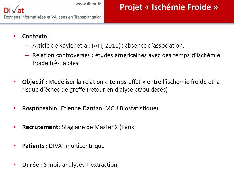 Projet « Ischémie Froide »
