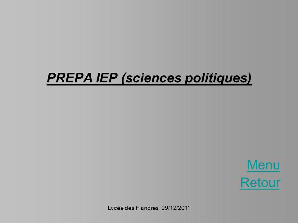 PREPA IEP (sciences politiques)