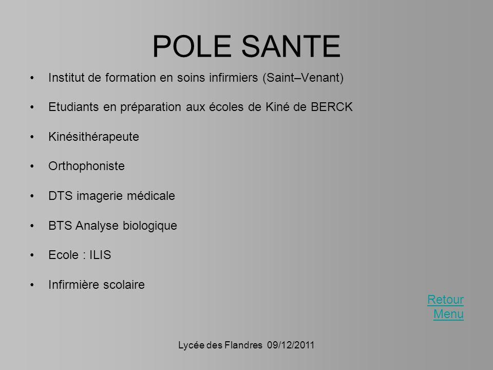 POLE SANTE Institut de formation en soins infirmiers (Saint–Venant)