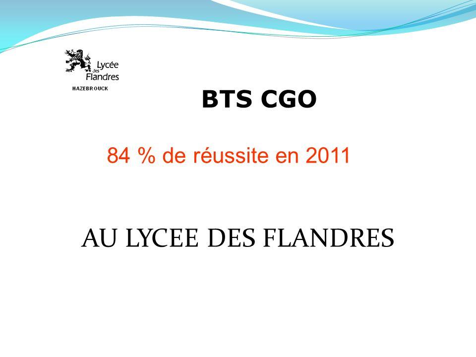 BTS CGO 84 % de réussite en 2011 AU LYCEE DES FLANDRES