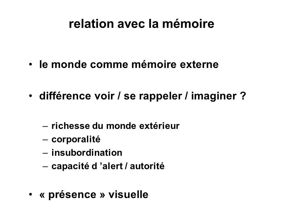 relation avec la mémoire