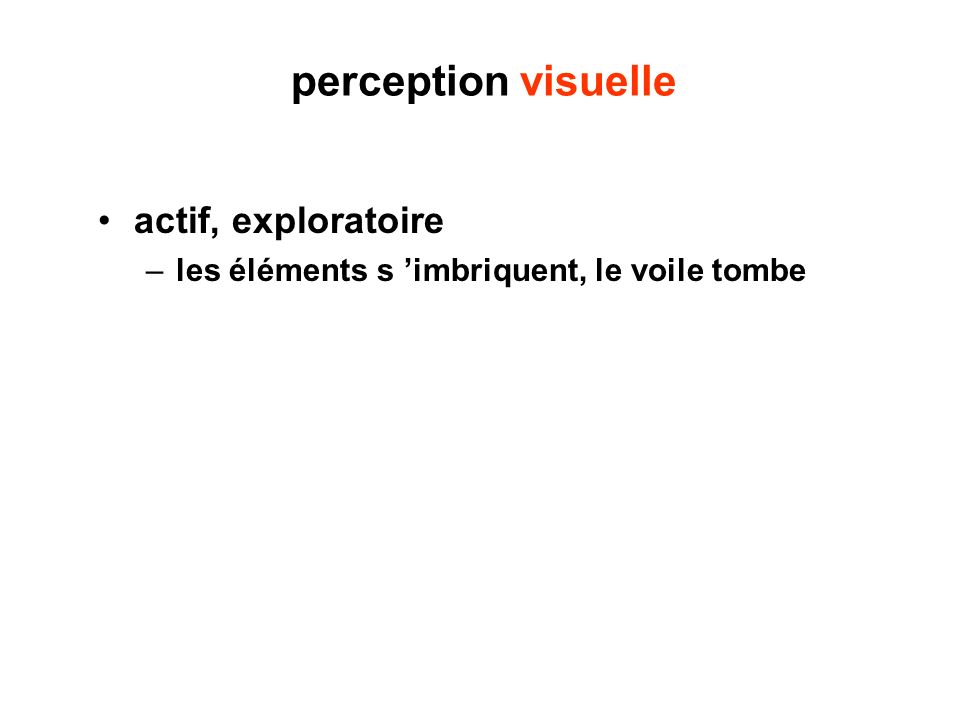 perception visuelle actif, exploratoire