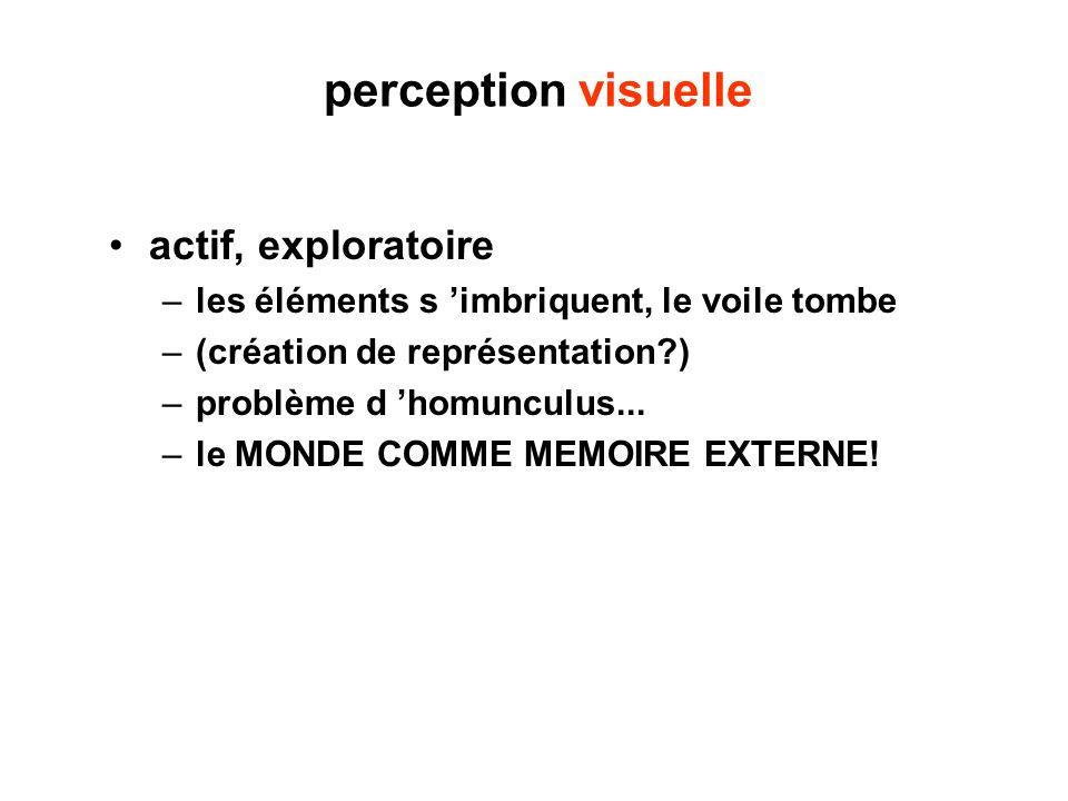 perception visuelle actif, exploratoire