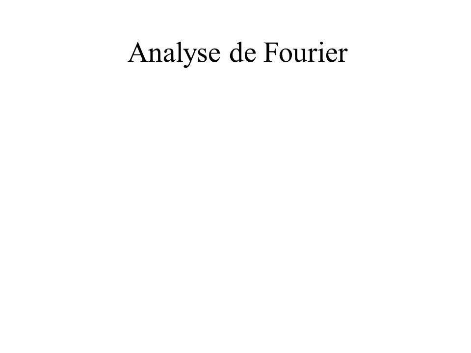 Analyse de Fourier