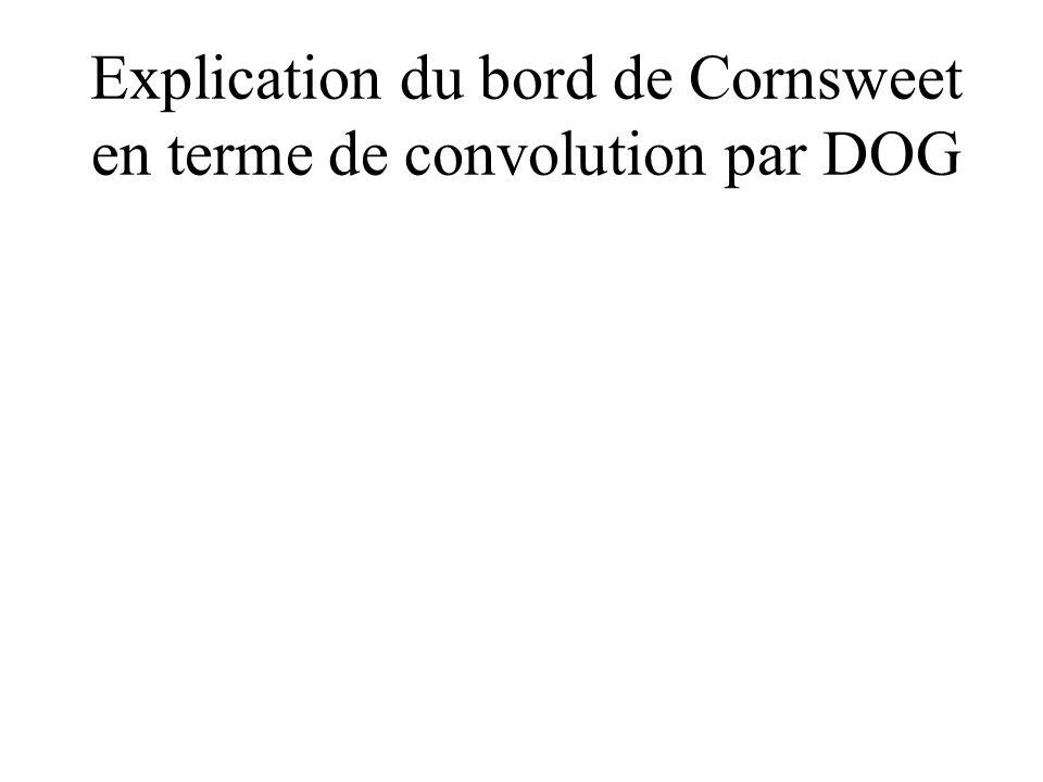 Explication du bord de Cornsweet en terme de convolution par DOG