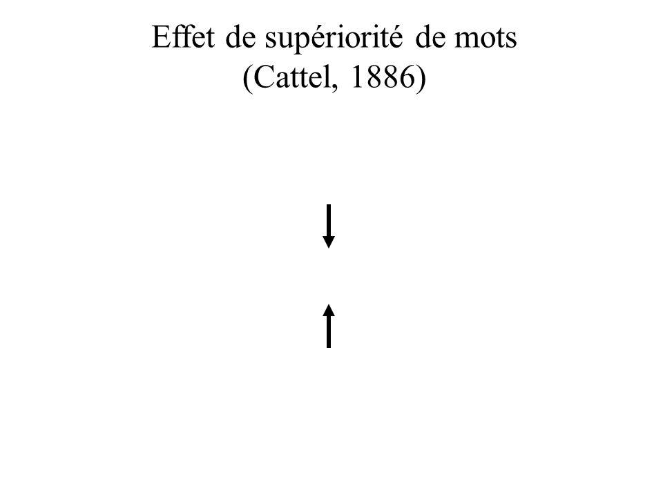 Effet de supériorité de mots (Cattel, 1886)