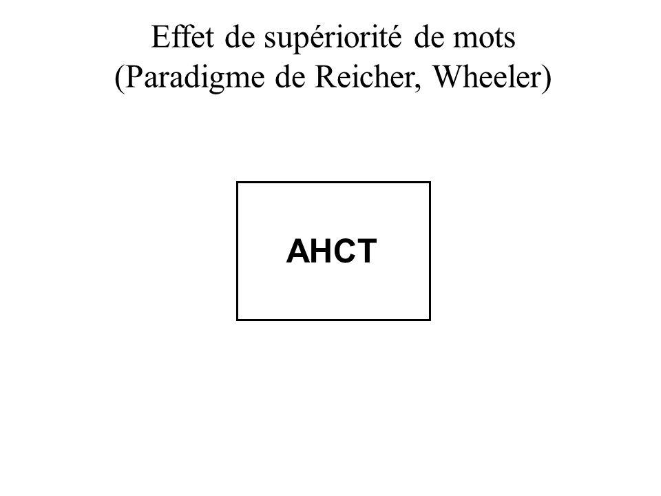 Effet de supériorité de mots (Paradigme de Reicher, Wheeler)