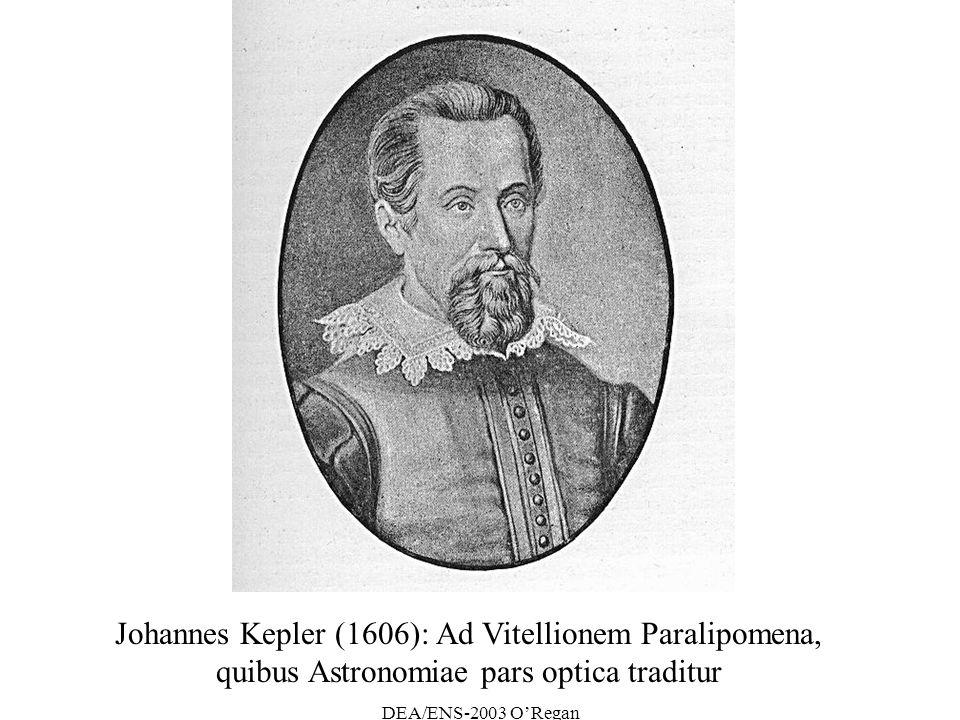 Johannes Kepler (1606): Ad Vitellionem Paralipomena,