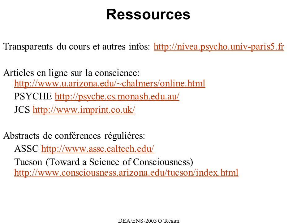 Ressources Transparents du cours et autres infos: http://nivea.psycho.univ-paris5.fr.