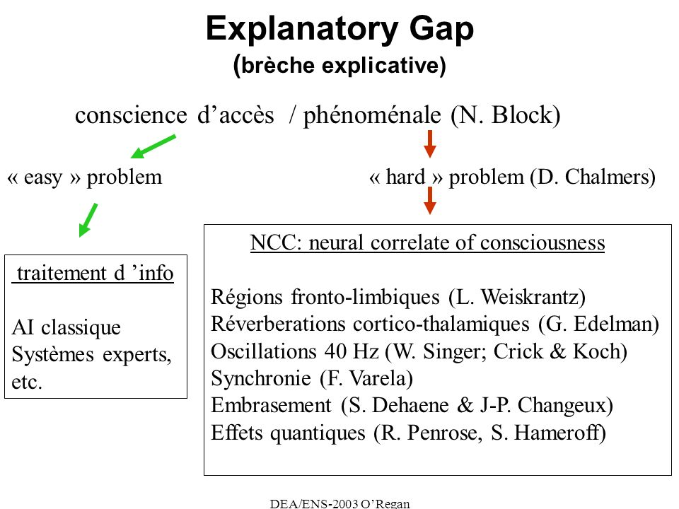 Explanatory Gap (brèche explicative)