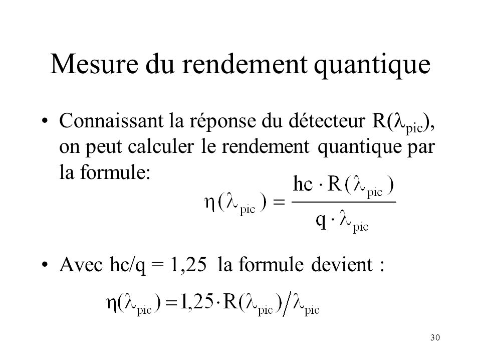 Mesure du rendement quantique