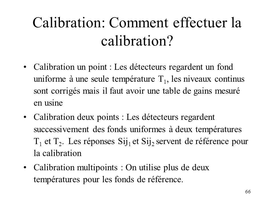 Calibration: Comment effectuer la calibration