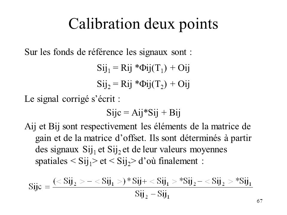 Calibration deux points