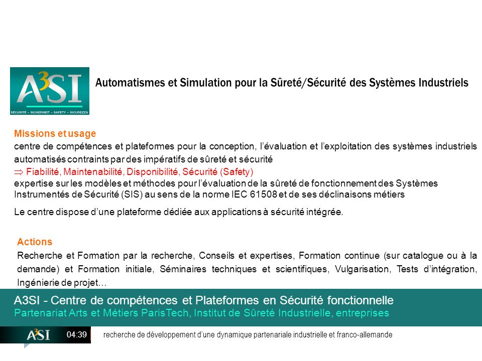 SÉCURITÉ – SICHERHEIT – SAFETY – SICUREZZA