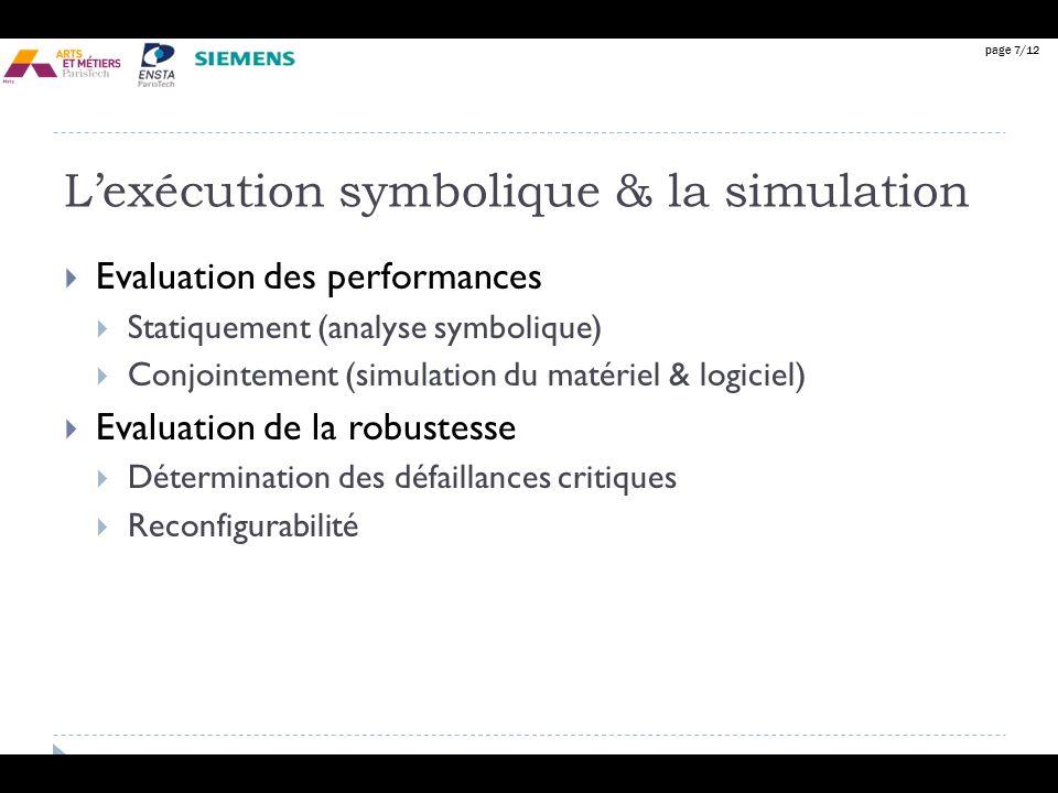 L'exécution symbolique & la simulation